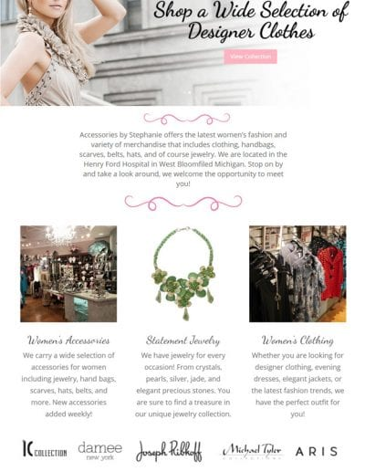 Websites for Boutiques in michigan