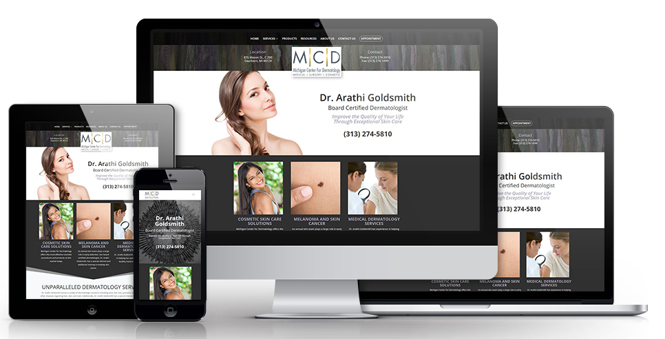 websites for doctors dentists dermatologist
