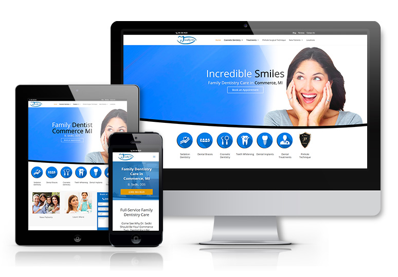 Website and SEO for Dentist in Commerce Michigan
