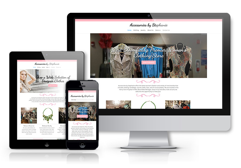 web design for a retailer in West Bloomfield MI