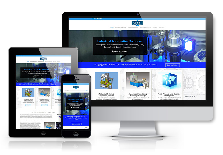 Website for an Industrial Company in Novi MI