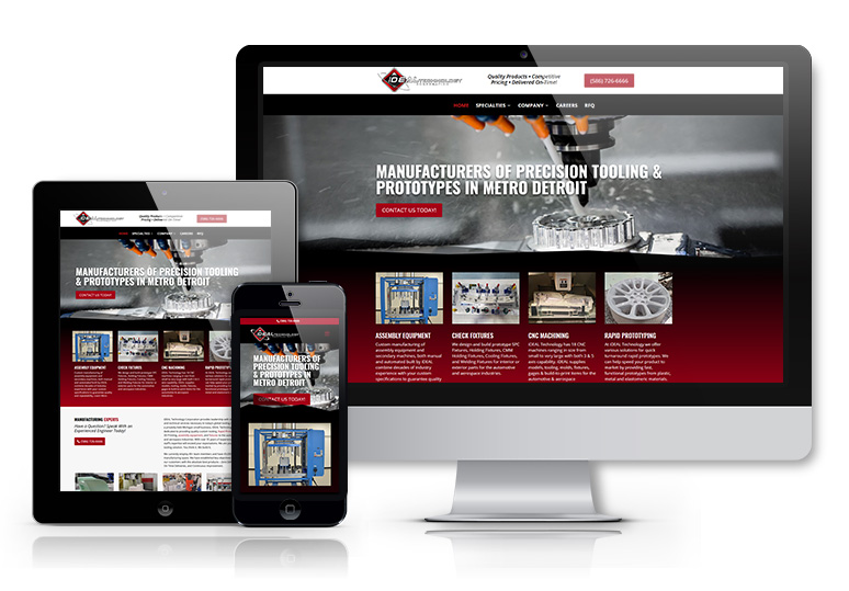 web design for Industrial Companies