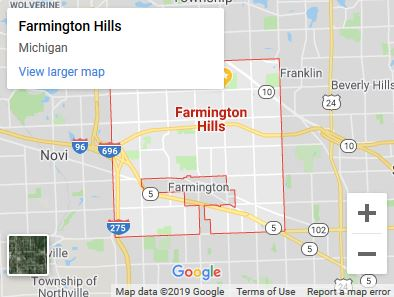 Serving Farmington Hills Michigan-map
