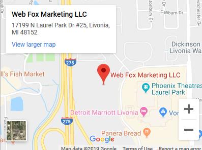 Web Fox Marketing Located in Livonia and Novi  MI - Map